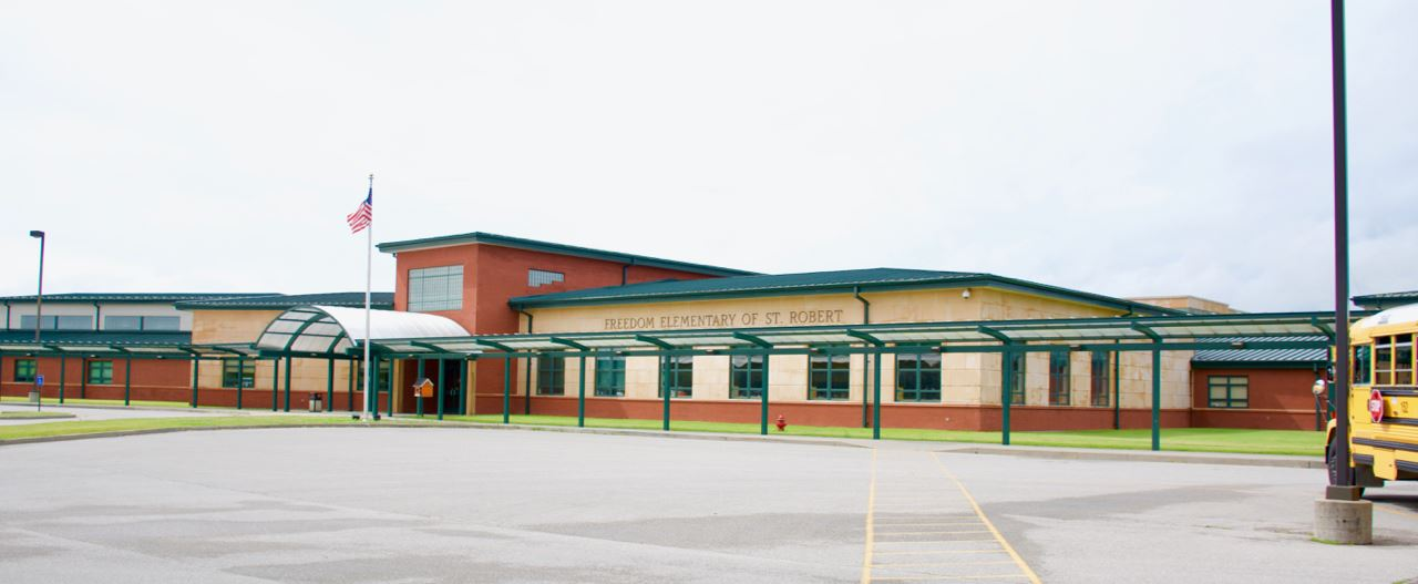Freedom elementary front of building - 1
